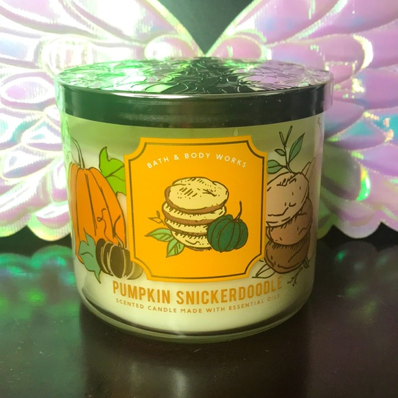BBW 3 wick candle Pumpkin Snickerdoodle